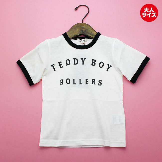 <img class='new_mark_img1' src='https://img.shop-pro.jp/img/new/icons20.gif' style='border:none;display:inline;margin:0px;padding:0px;width:auto;' />【rollers】TEDDYBOY RINGER TEEシャツ ブラック men's
