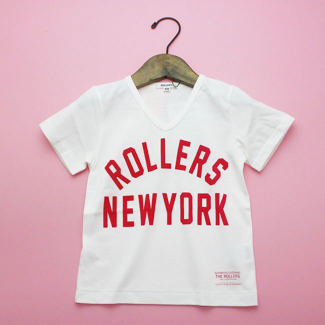 <img class='new_mark_img1' src='https://img.shop-pro.jp/img/new/icons20.gif' style='border:none;display:inline;margin:0px;padding:0px;width:auto;' />【rollers】ROLLERS NY VNECK TEEシャツ|ホワイト