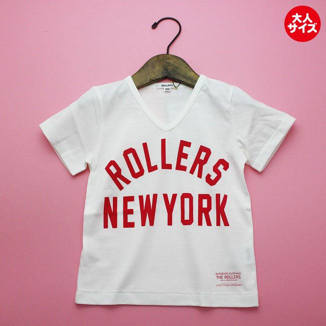 【rollers】 ROLLERS NY VNECK TEEシャツ (ブラック) men's