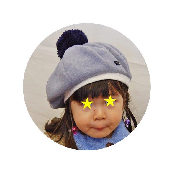 【shapox】 8枚ベレー帽 (グレー)
