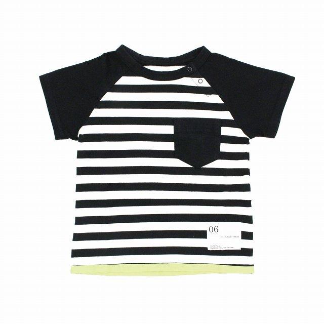 【6°vocale】ペンギンTシャツ|ホワイト&ブラック|80-90cm