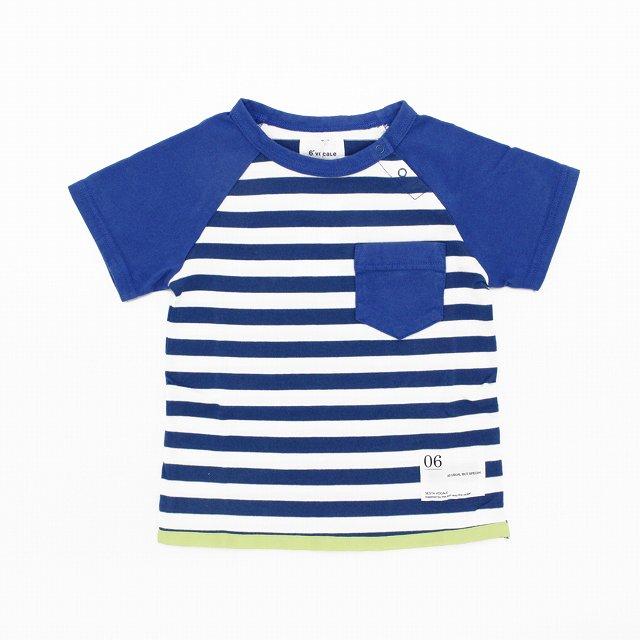【6°vocale】ペンギンTシャツ|ホワイト&ブルー|80-90cm