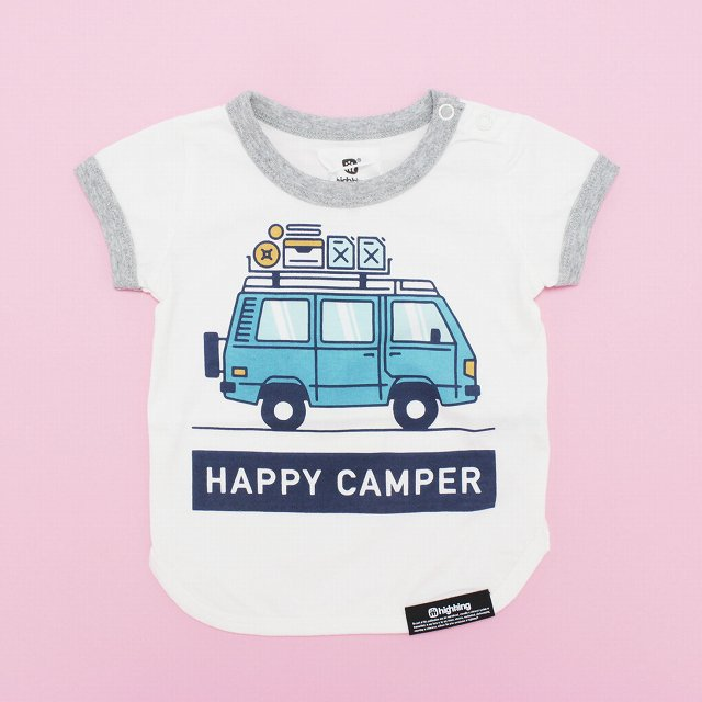 【highking】happy camper short-sleeve|white|80-90cm