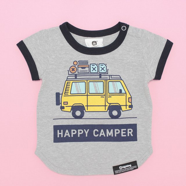 【highking】happy camper short-sleeve|gray|80-120cm