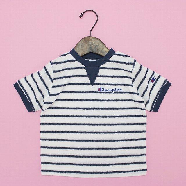 【Champion】パイルTシャツ|ホワイト|90-140cm