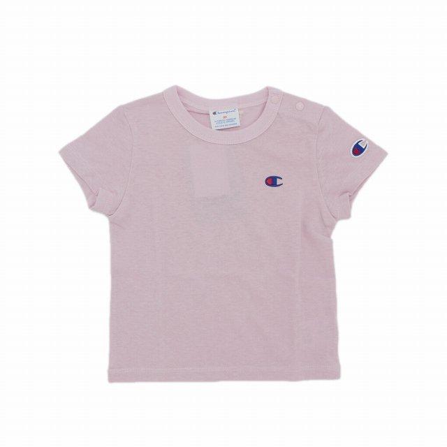 【Champion】ベビーTシャツ|ピンク|70-80cm