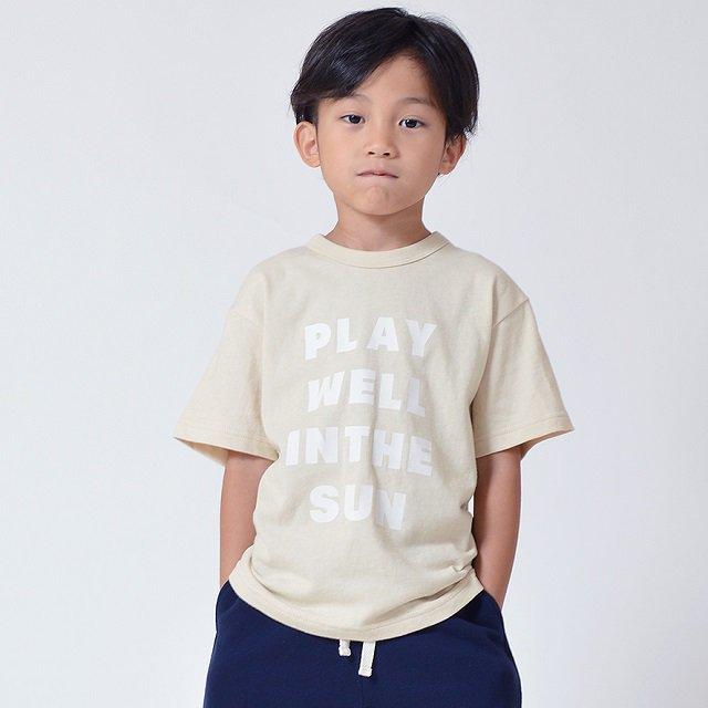 【GENETATOR】シンプルTシャツ|ベージュ|90-160cm