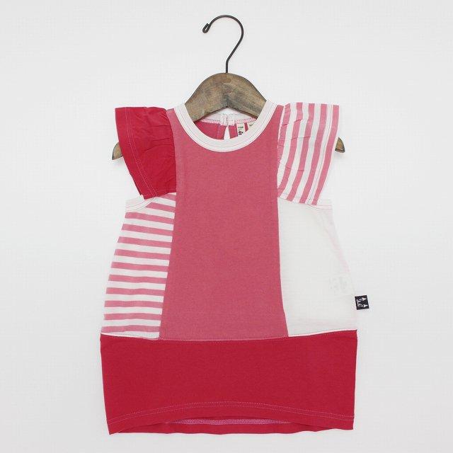 【nino】配色バルーンワンピース ピンク 90-130cm