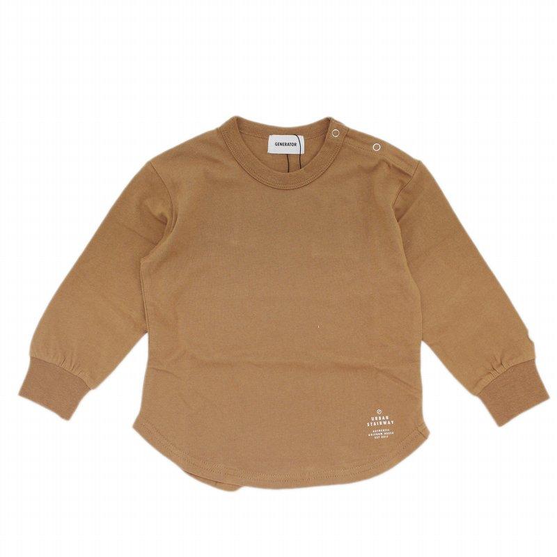 【GENETATOR】L/S Tシャツ|ライトブラウン|90-160cm