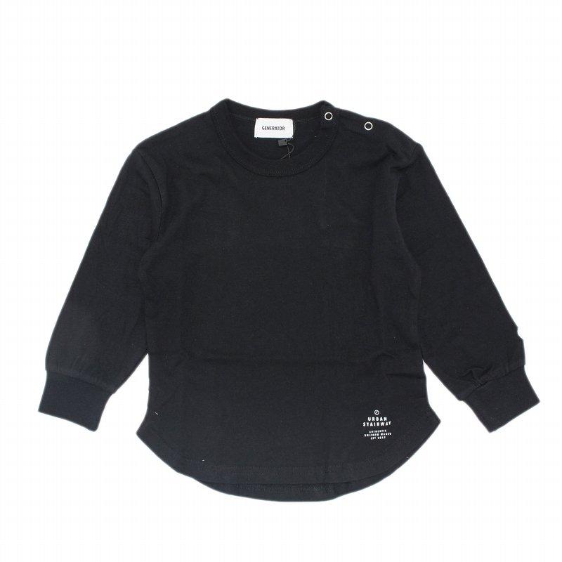 【GENETATOR】L/S Tシャツ|ブラック|90-160cm