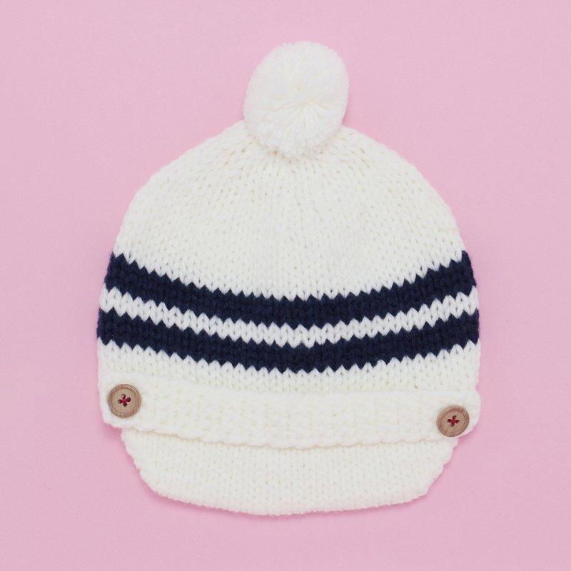 【shapox】キャスケットニット帽|オフ
