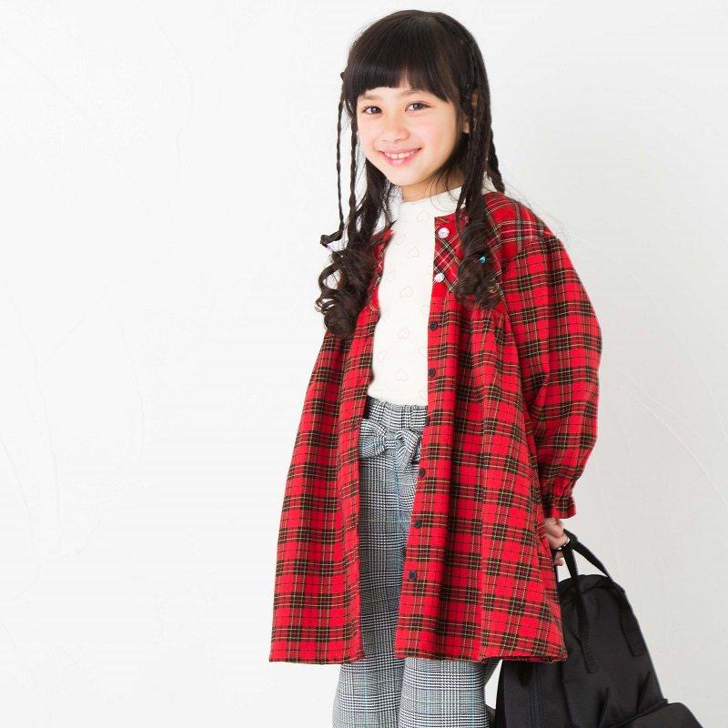 【nino】タータンチェックワンピース|レッド|100-150cm