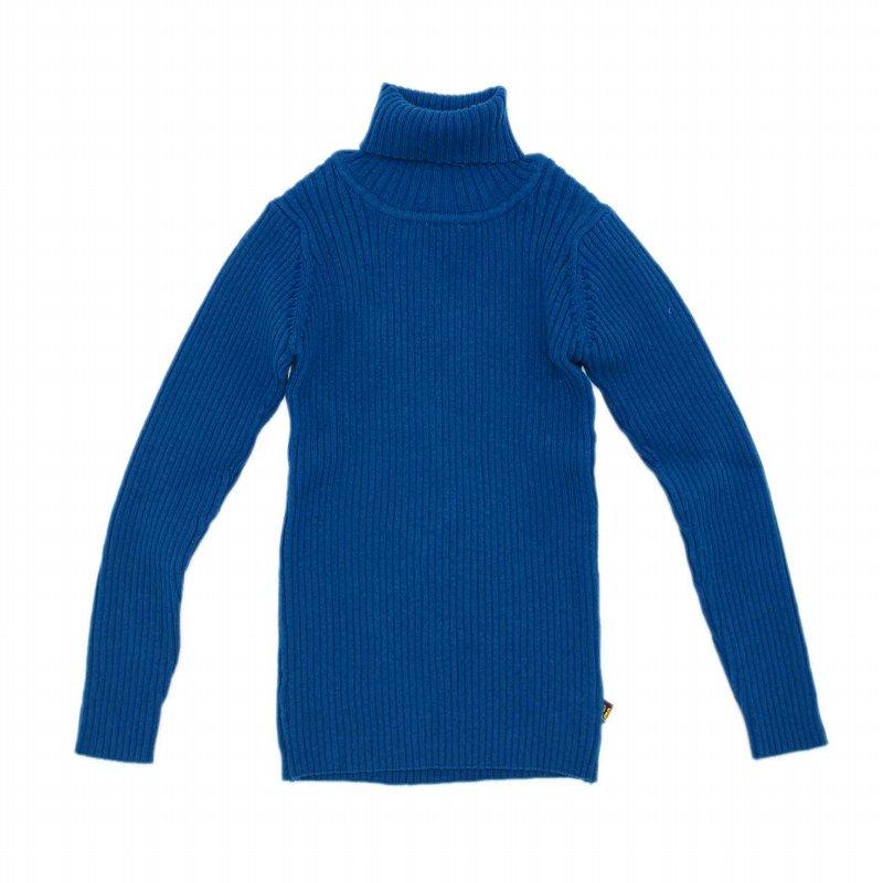 【nino】リブタートル|ブルー|80-150cm