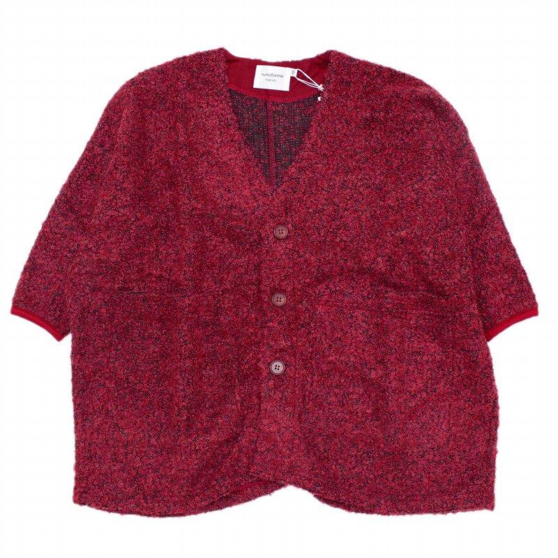【nunuforme】ワイドカーディガン|レッド|95-145cm