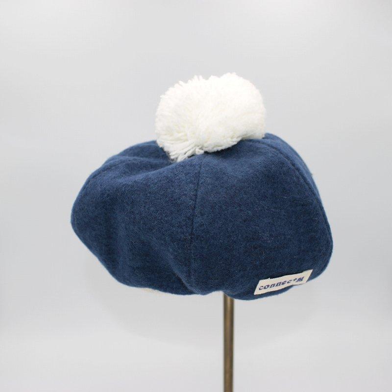 【shapox】ベレー帽|ネイビー