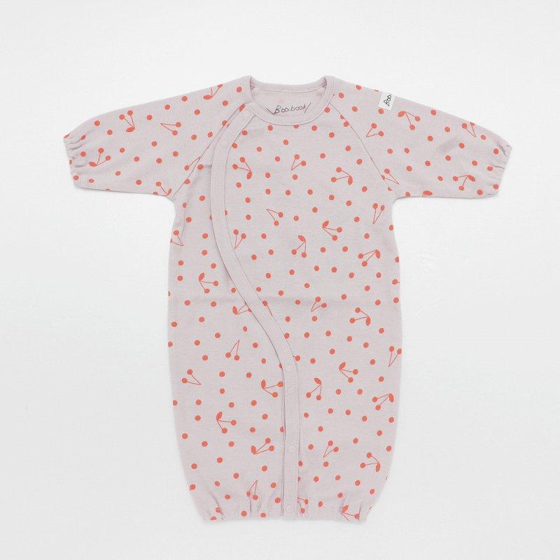 【Baabook】チェリードット2WAYオール|ピンク|50-60cm