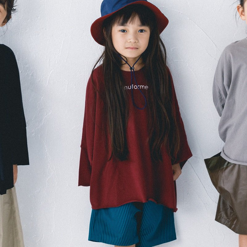 【nunuforme】nunuforme Tシャツ|ディープレッド|105-145cm