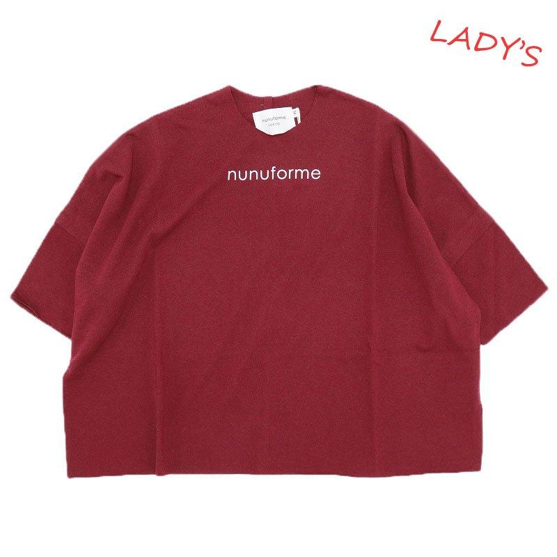 【nunuforme】nunuforme Tシャツ|ディープレッド|レディース