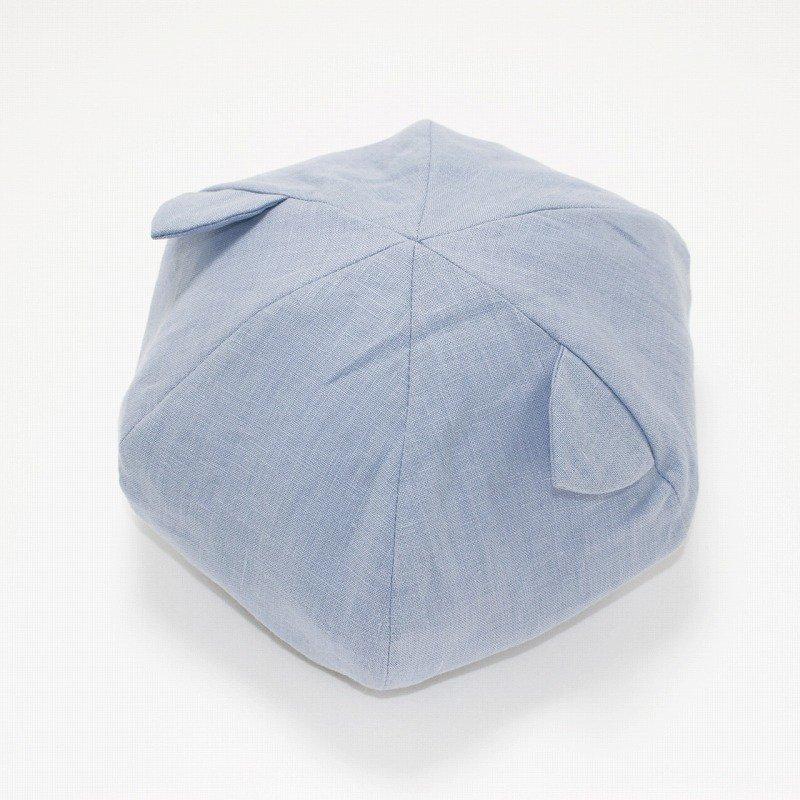 【nino】ねこ耳ベレー帽|ライトブルー