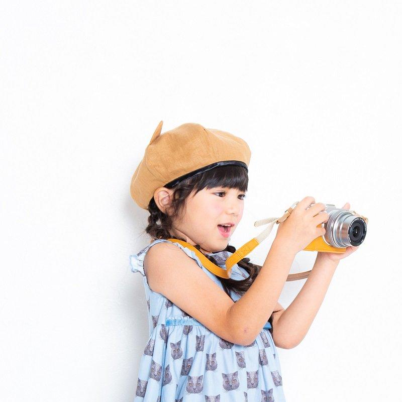 【nino】ねこ耳ベレー帽|キャメル