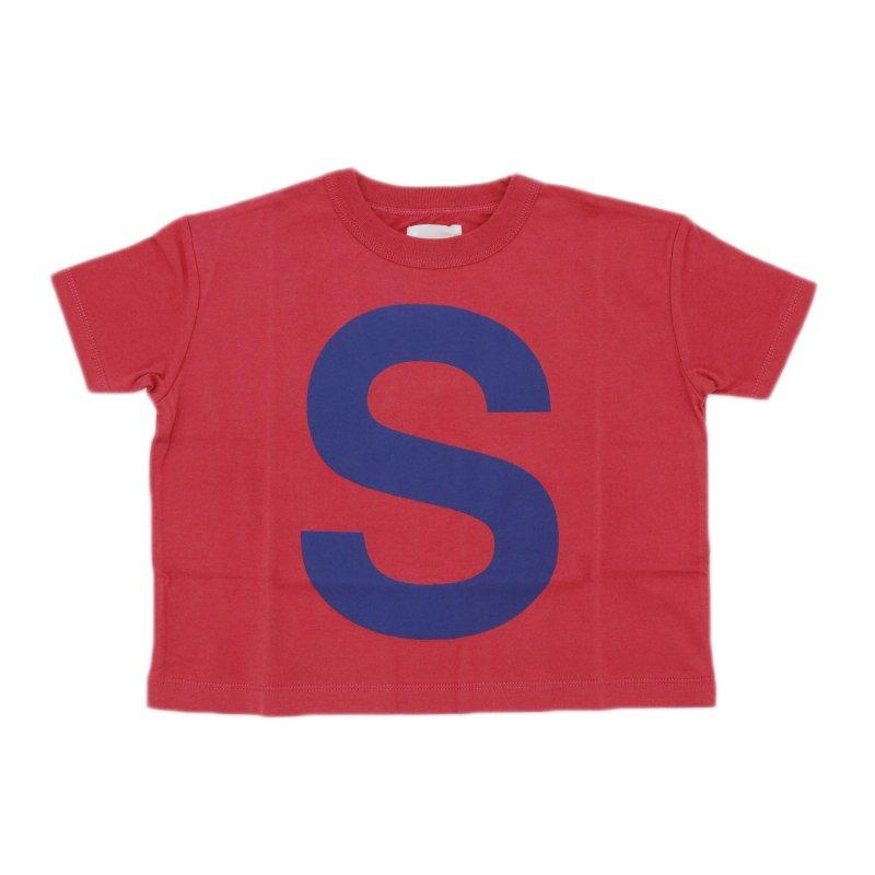 【6°vocale】キャピタルレターTシャツ|RED|90-120cm