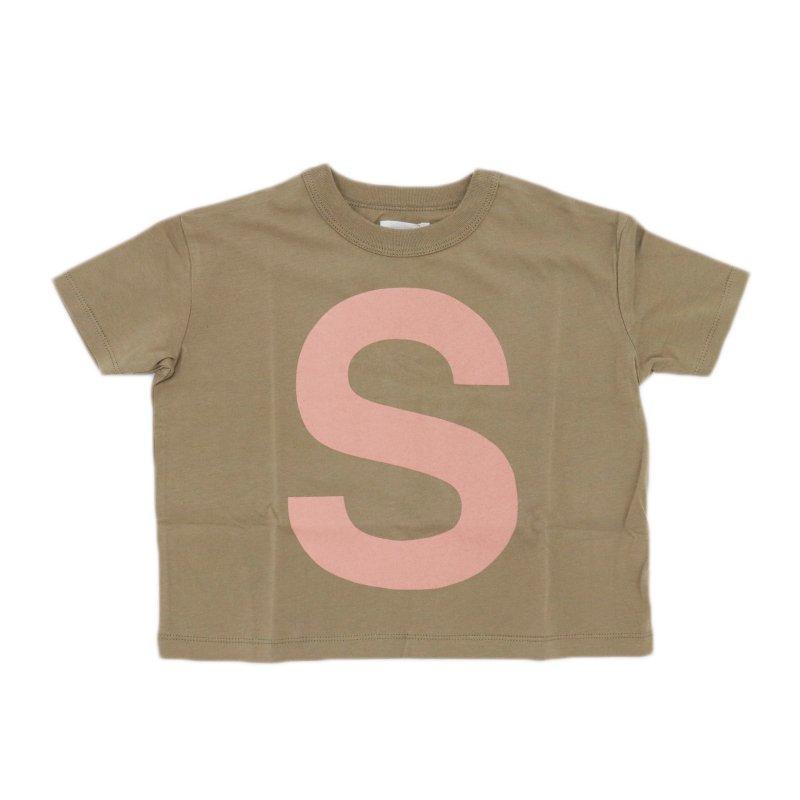 【6°vocale】キャピタルレターTシャツ|BEIGE|90-120cm