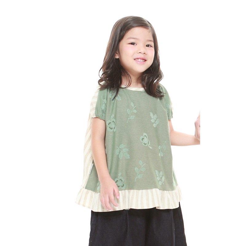 【MoL】michikusaガールズTシャツ|カーキ|90-150cm