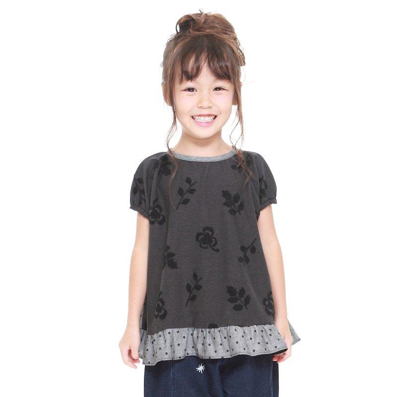 【MoL】michikusaガールズTシャツ|ブラック|90-150cm