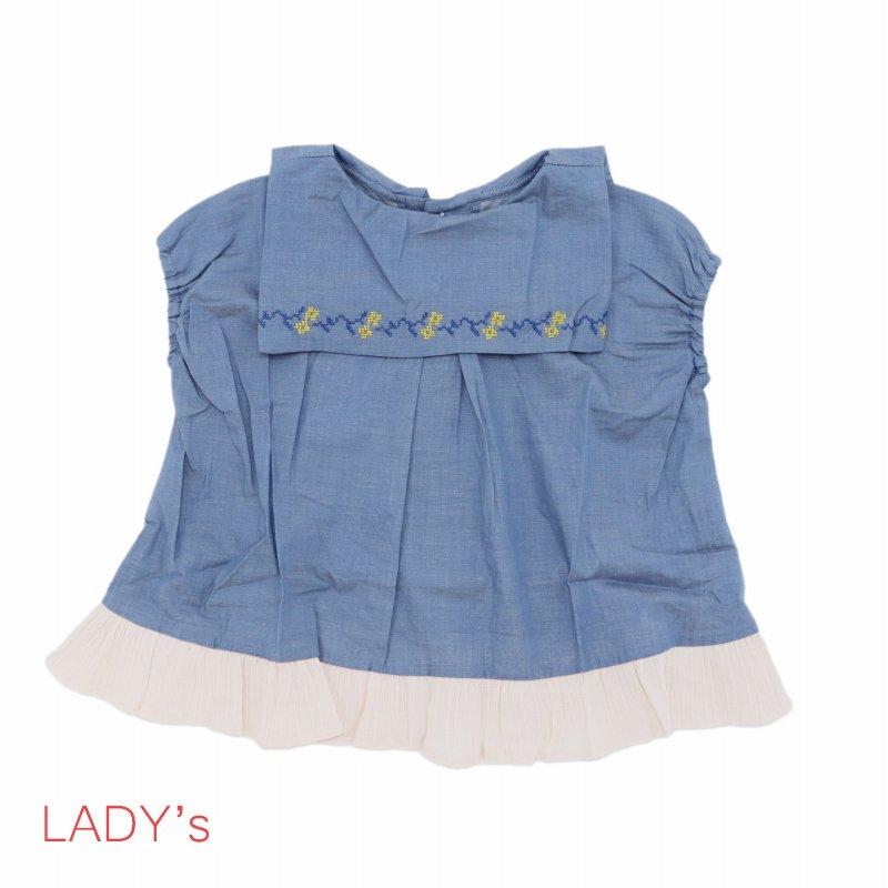 【MoL】フリルセーラーシャツ|ブルー|レディース
