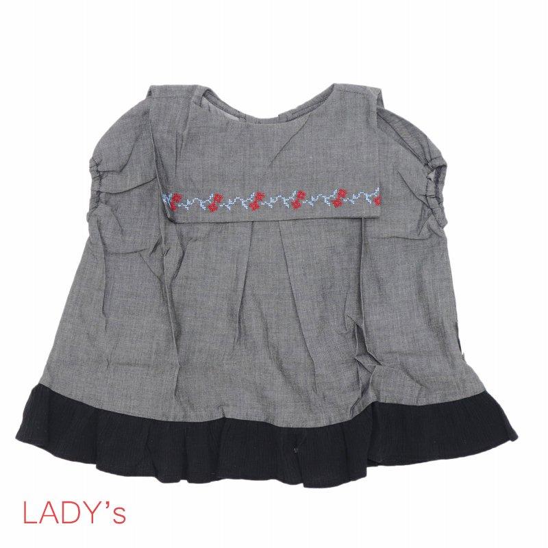 【MoL】フリルセーラーシャツ|ブラック|レディース
