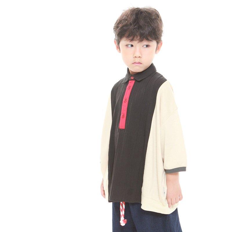 【MoL】キリカエTシャツ|ブラック|90-110cm