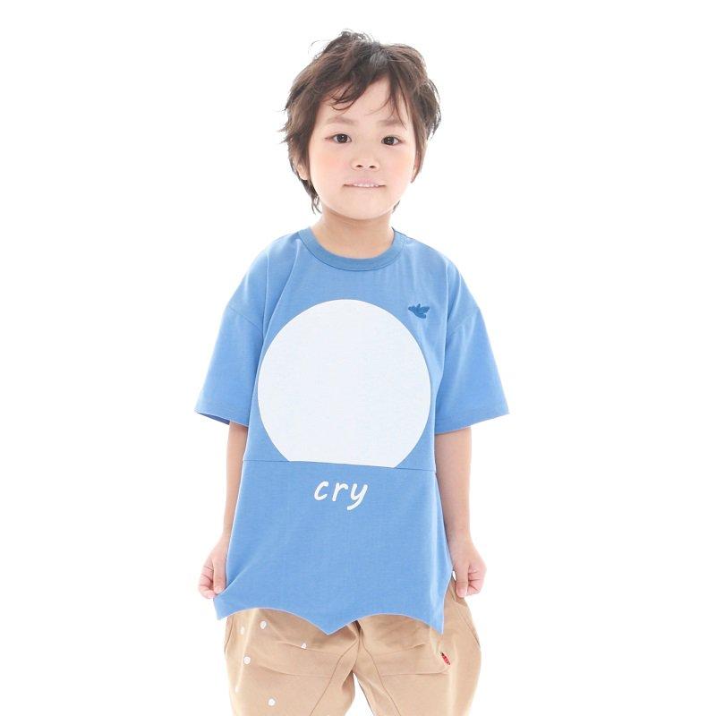 【MoL】crowTシャツ|ブルー|90-150cm