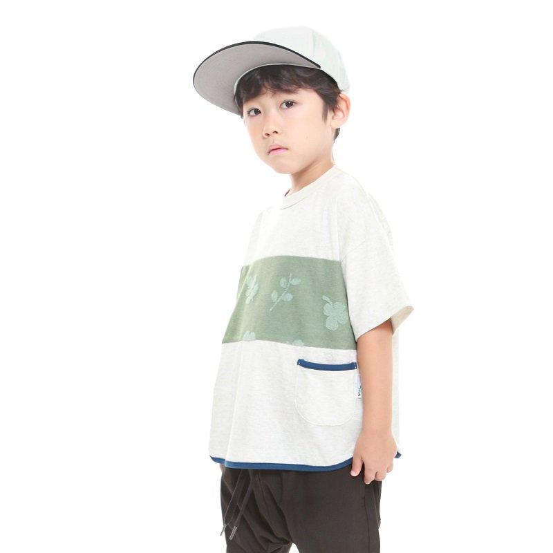 【MoL】michikusaキリカエTシャツ|カーキ