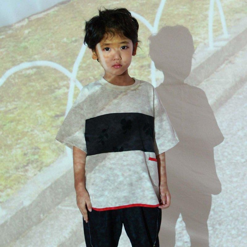 【MoL】michikusaキリカエTシャツ|ブラック|90-150cm
