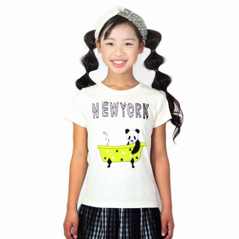 【UNICA】NEWYORK Tシャツ|オフホワイト|100-140cm