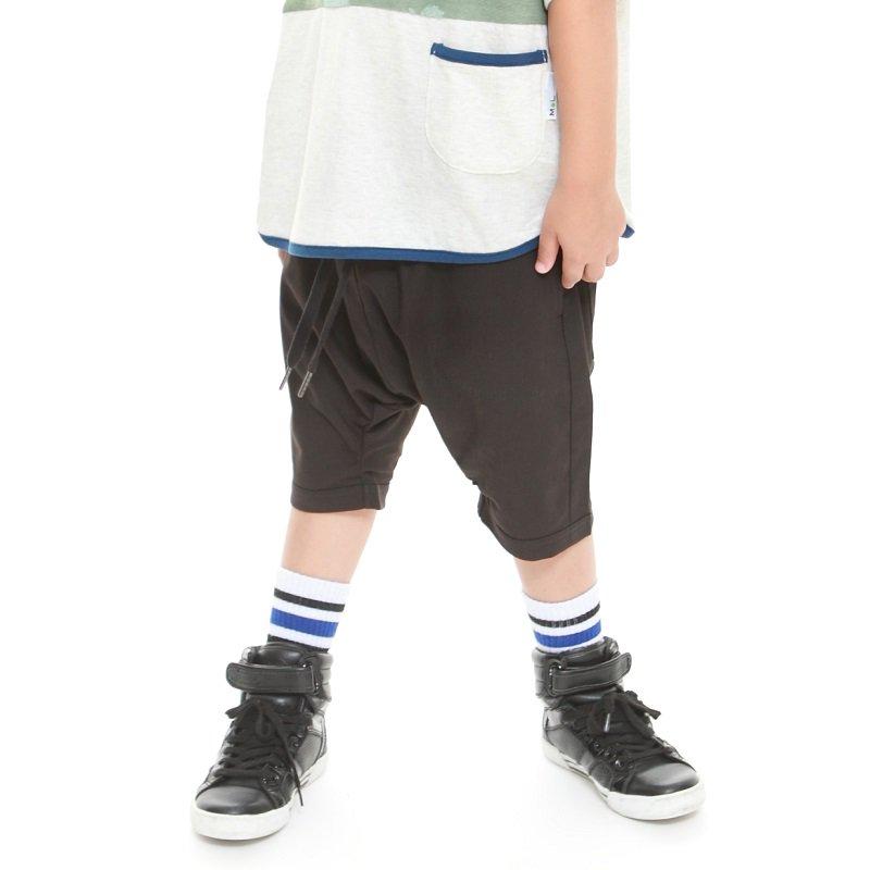 【MoL】トゲトゲシャーリングパンツ|ブラック|90-150cm