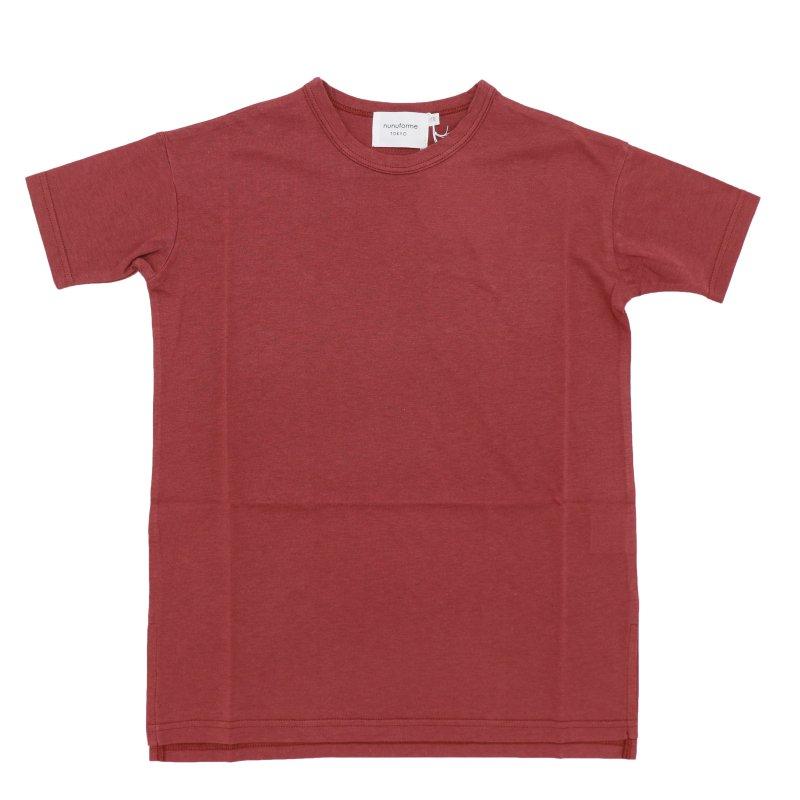 【nunuforme】ビッグロングTシャツ|ディープレッド|95-145cm