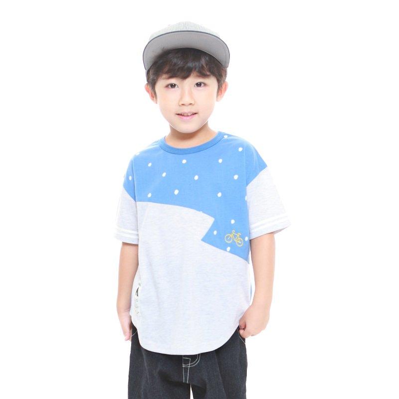 【MoL】ジグザグTシャツ|ブルー|90-150cm