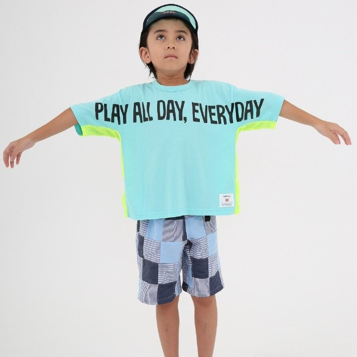 【highking】play all sleeve|ミント|100-140cm