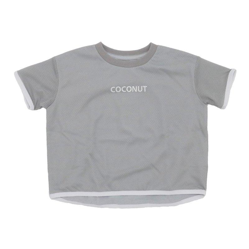 【6°vocale】メッシュTシャツ|グレー|100-120cm