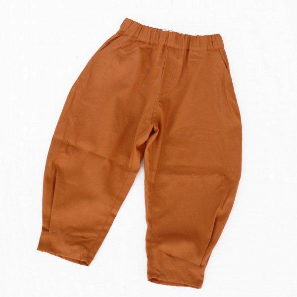 【nunuforme】ヘムタックカーブパンツ|オレンジ|105-135cm