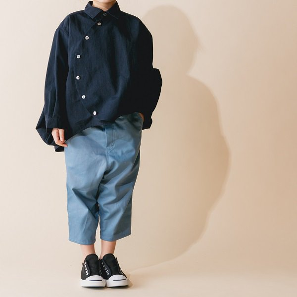 【nunuforme】バギーパンツ|ブルー|95-145cm