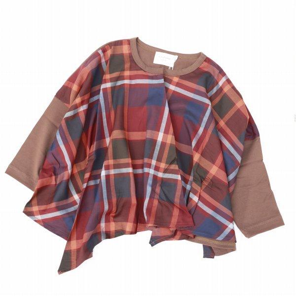 【nunuforme】ドレープTシャツ|ブラウン|レディース