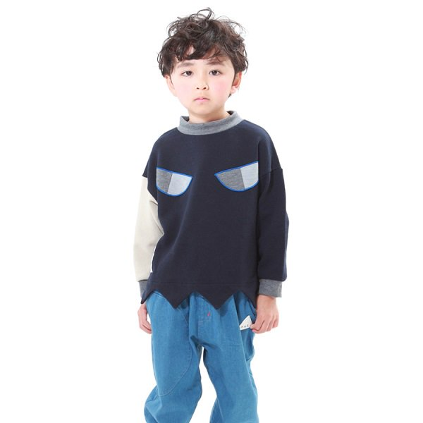 【MoL】ONI トレーナー|ネイビー|90-120cm