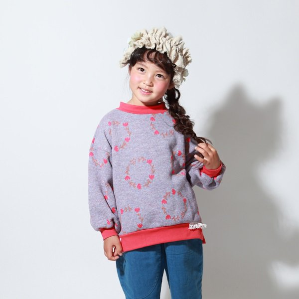 【MoL】blossom crown トレーナー|Hブルー|80-150cm