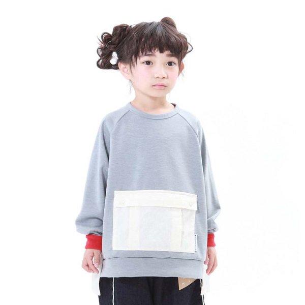 【MLP】square pocket スウェットシャツ|Hグレー|90-150cm