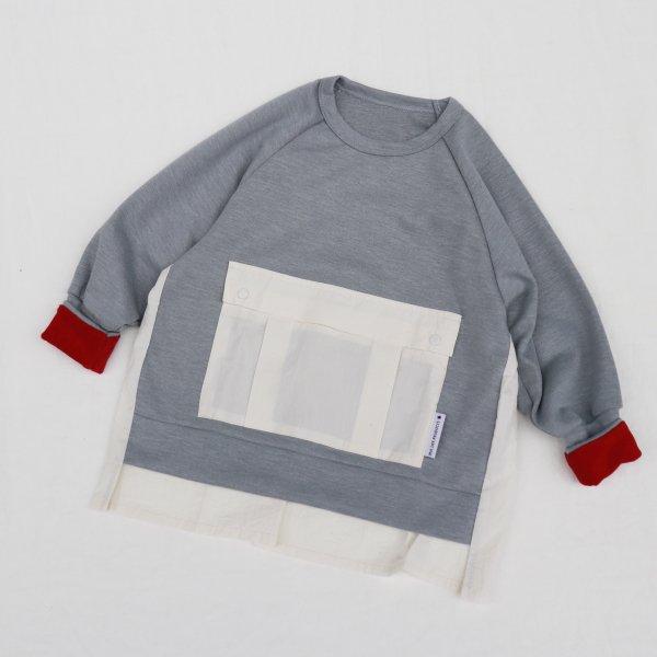 【MLP】square pocket スウェットシャツ|Hグレー|レディース&メンズ