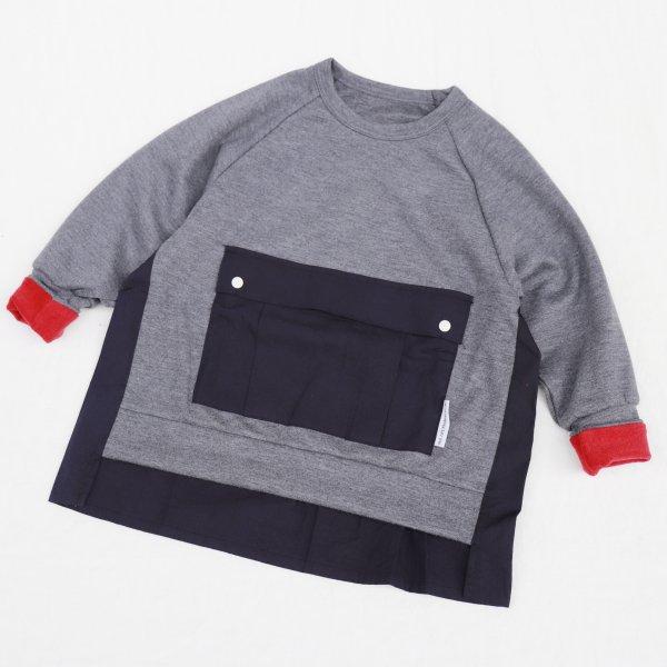 【MLP】square pocket スウェットシャツ|Hチャコール|レディース&メンズ