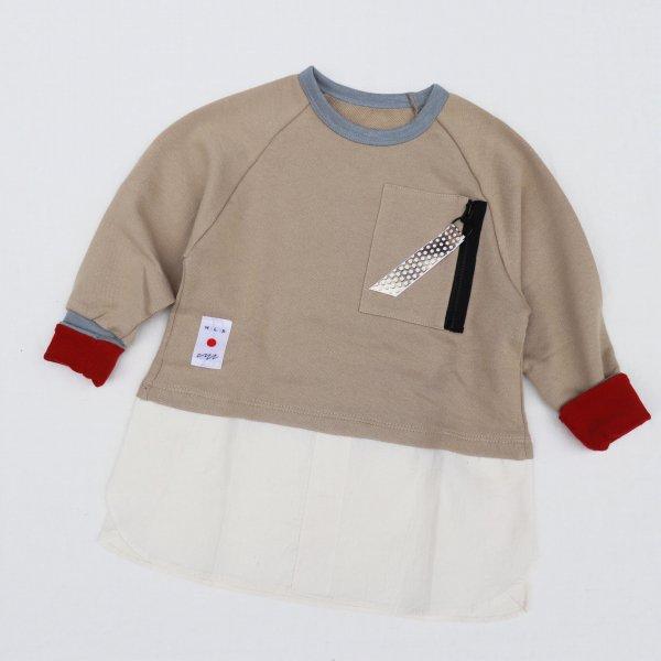 【MLP】military pocket スウェットシャツ|ベージュ|レディース&メンズ