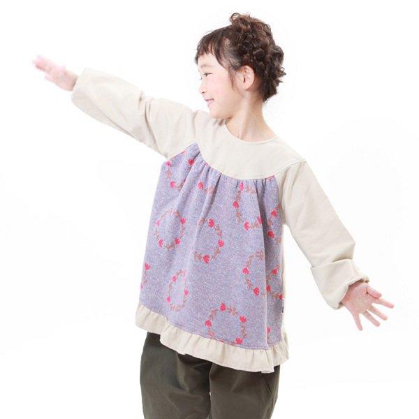 【MoL】blossom crown チュニックブラウス|ベージュ|80-150cm